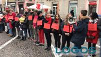 Scuola - Il flash mob degli studenti del 'Torno' lo scorso anno (Foto d'archivio)