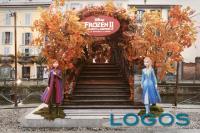 Milano - Il ponte di Frozen (foto fb Disney)