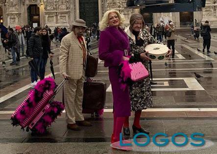 Televisione - I Legnanesi durante le riprese (Foto pagina Facebook I Legnanesi)