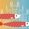 Milano - Il logo delle 'sardine'