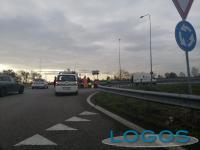 Cuggiono / Mesero - Incidente in rotatoria, 3 dicembre 2019