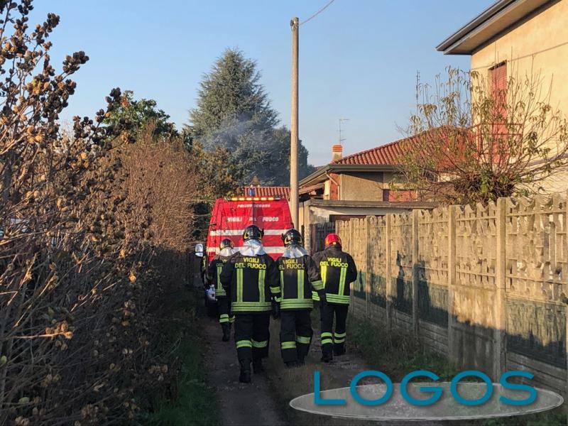 Robecchetto - I Vigili del fuoco sul posto