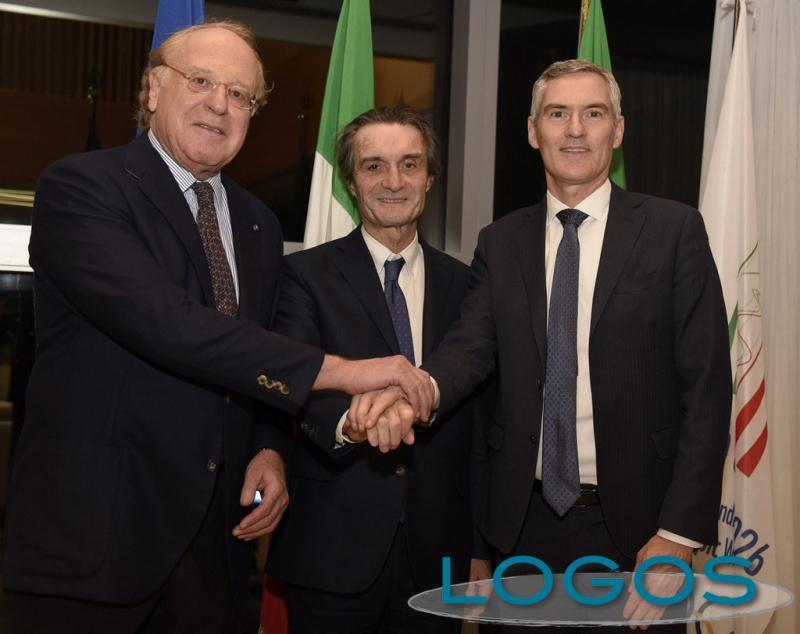 Milano - Scaroni, Fontana e Antonello a Palazzo Lombardia