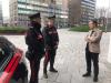 Milano - L'incontro tra Fontana e una pattuglia dei Carabinieri