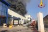 Gallarate - Incendio in una ditta