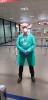 Salute - Il dottor Gian Mario Vitali durante l'attività in aeroporto