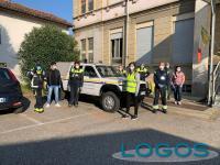 Castano Primo - Alcuni volontari con la Protezione Civile (Foto Franco Gualdoni)