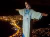 Attualità - Il Cristo di Rio de Janeiro in omaggio agli operatori sanitari (Foto internet)