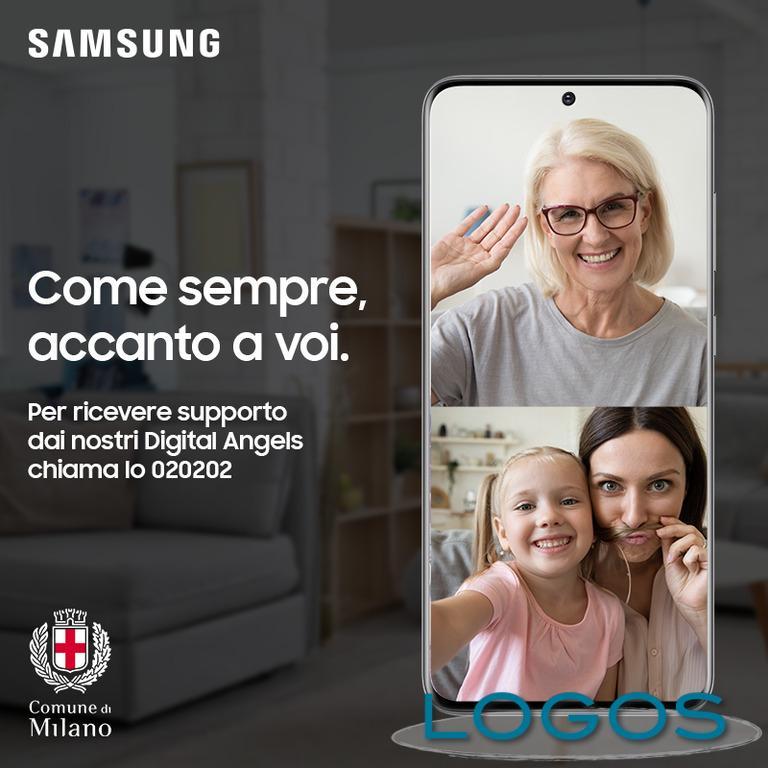 Milano - Samsung con 'Milano Aiuta'