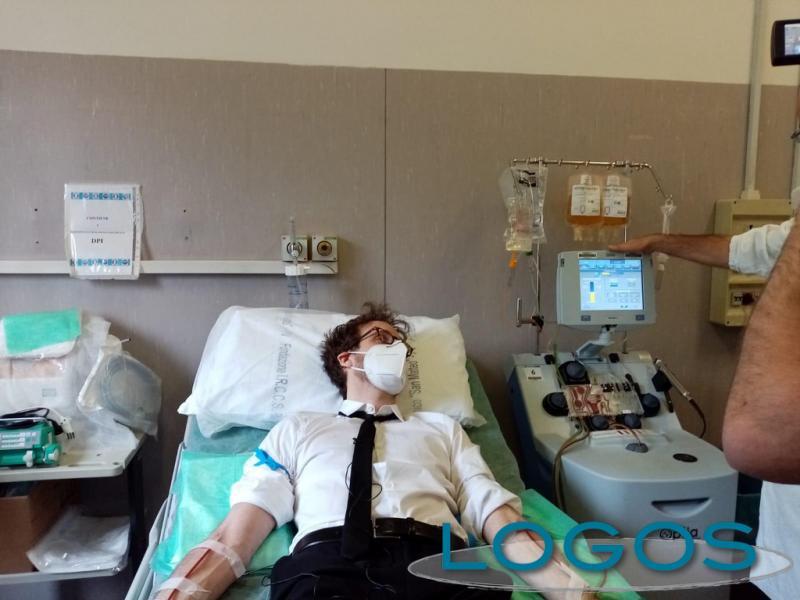 Inveruno - Alessandro Politi dona il plasma iperimmune