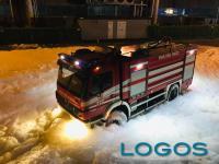 Buscate - Uno dei mezzi dei Vigili del fuoco sul posto