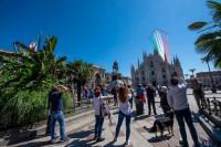 Milano - Le Frecce Tricolori sopra piazza Duomo (Foto internet)