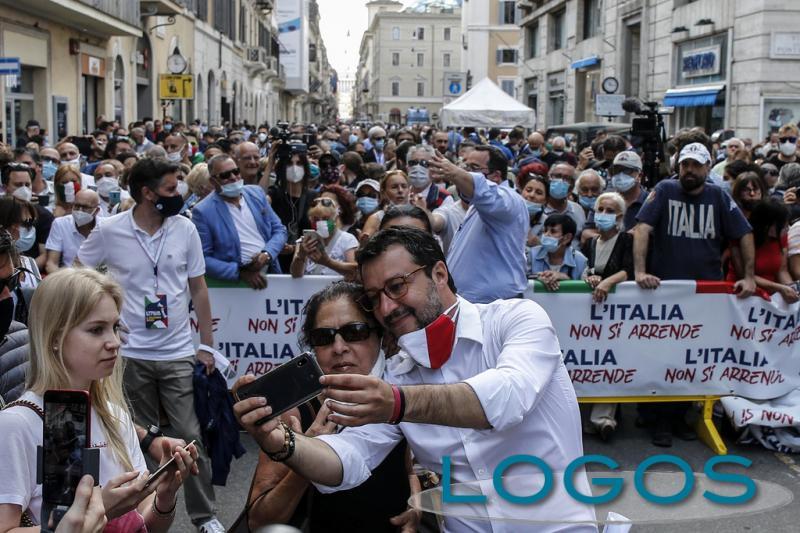 Roma - Manifestazione centrodestra 2 giugno 2020