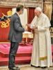 Milano - Il governatore Fontana con Papa Francesco
