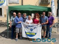Cuggiono - Gazebo della Lega con Maria Teresa Perletti