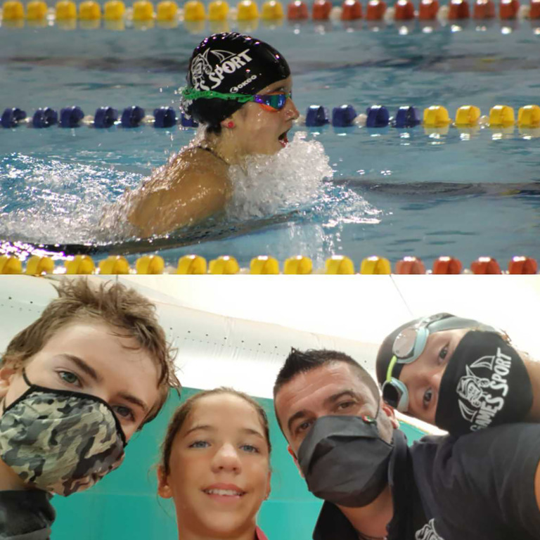 Cuggiono - Giovani della squadra di nuoto in gara
