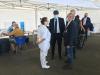 Territorio - L'assessore Gallera durante la visita a Malpensa per i test Covid