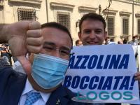 Politica - Fabrizio Cecchetti manifesta contro Azzolina