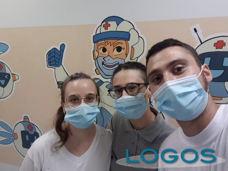 Cuggiono - I murales realizzati in Ospedale