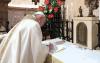 Assisi - Papa Francesco firma l'enciclica