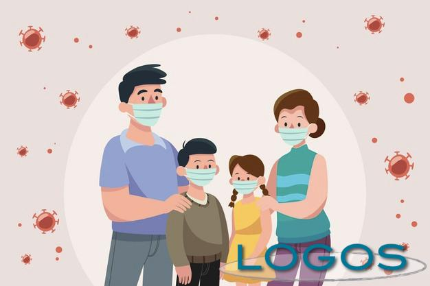 Salute - Famiglia con la maschierina (disegno da internet)