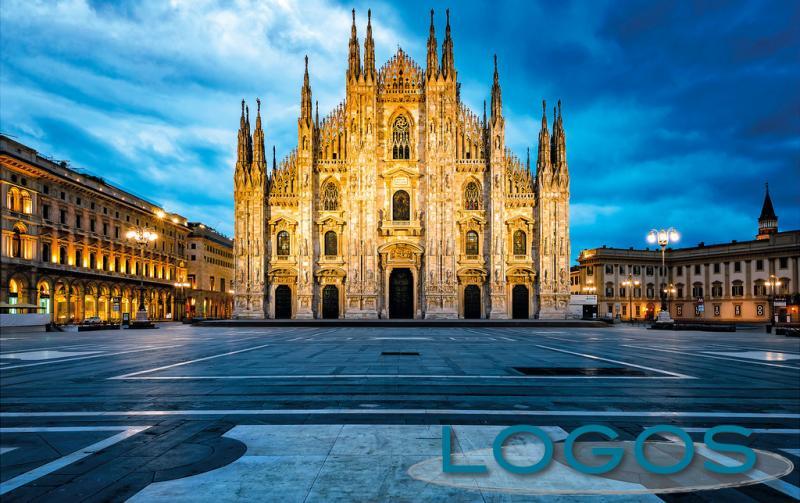 Milano - Il Duomo una sera di lockdown (foto di Franco Gualdoni)