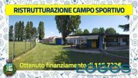 Arconate - Ristrutturazione del campo sportivo (Foto Facebook Comune Arconate)