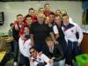 Turbigo - Carlo in uno dei tanti momenti con alcuni giocatori (Foto Facebook)