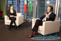 Milano - Fontana durante l'intervista a Sportitalia