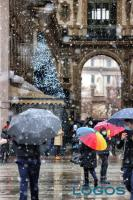 Milano - Neve verso Galleria Vittorio Emanule (foto di Andrea Cherchi)