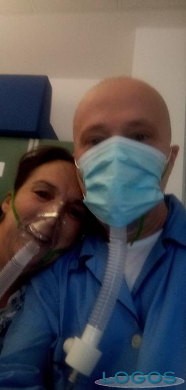 Magenta - Nicoletta Lovati e il marito dall'Ospedale