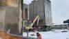 Inveruno - Interventi di demolizione all'oleificio Belloli