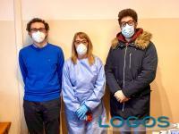 Turbigo - I dottori Bonuso e Bianchi con la dottoressa Langé