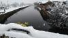 Bernate Ticino - Neve dal ponte sul Naviglio