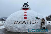 Attualità - Pupazzo di neve 'gigante'