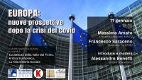Cultura - Europa oltre la crisi, incontro dell'11 gennaio 2021