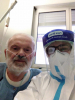Turbigo - Giordano Garavaglia con un infermiere