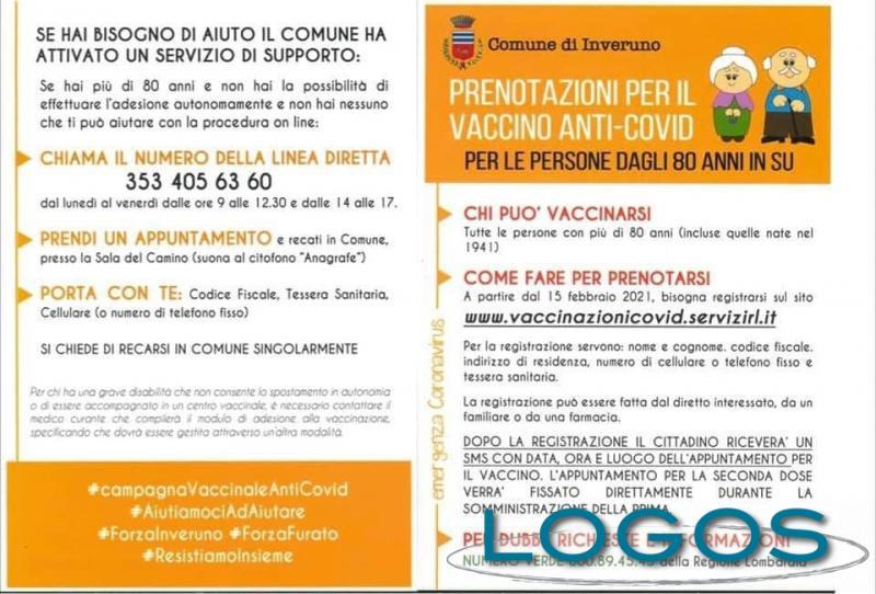 Inveruno / Salute - Prenotazioni vaccinazioni