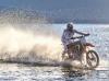 Storie - Luca Colombo durante una traversata in moto