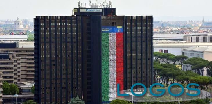 Sport - La maxi bandiera di Poste Italiane