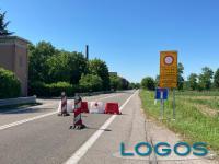 Turbigo - Cartelli e segnaletica per la chiusura del ponte sul Ticino