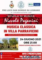 San Giorgio su Legnano - Musica classica in Villa Parravicini