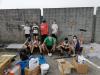 Magnago - Alcuni ragazzi all'opera al campo sportivo