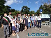 Territorio / Cuggiono - Sindaci a difesa dell'ospedale di Cuggiono (Foto Gianni Mazzenga)