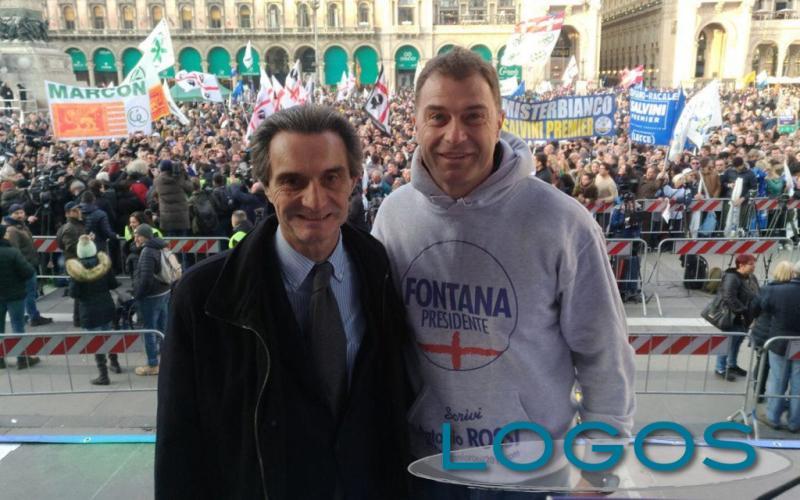 Milano - Attilio Fontana e Antonio Rossi (Foto internet)