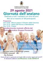 Bernate Ticino - Festa dell'Anziano 2021, la locandina