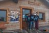Storie / Castano - Luca davanti al rifugio Sitten