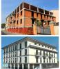 Arconate - L'edificio abbandonato (sopra) e come verrà (sotto)