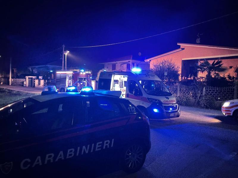 Inveruno - Incendio in via Vittorio Veneto