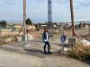 Inveruno - Sara Bettinelli davanti al cantiere della scuola